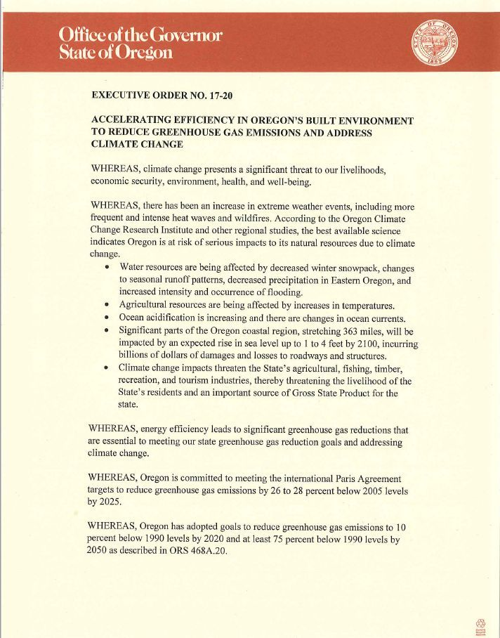 Office of the Governor - Executive Order No. 17-20